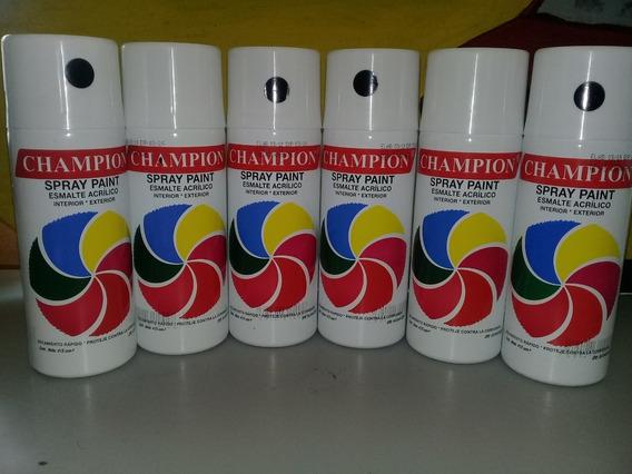 Pintura En Spray Champion Negro Azabache Brillante 415 Cm3