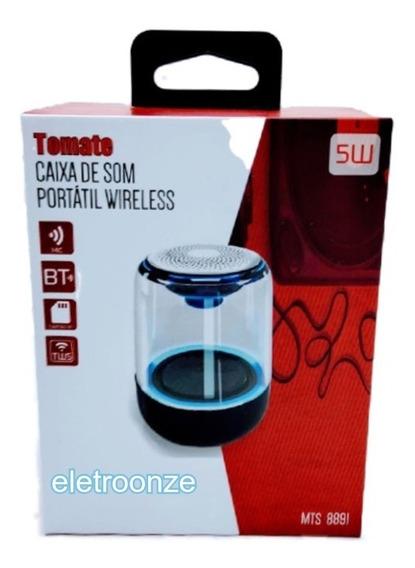 Caixa De Som Portátil Bluetooth5.0 Transparente 5w Mts-8891