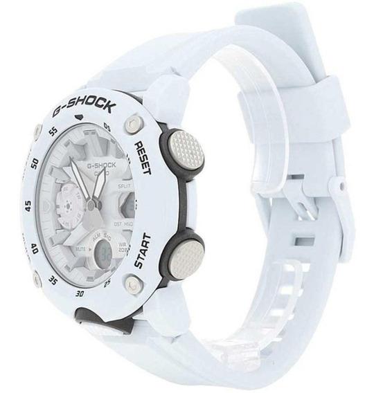 Relógio Casio Masculino G-shock Anadigi Branco Ga-2000s-7adr