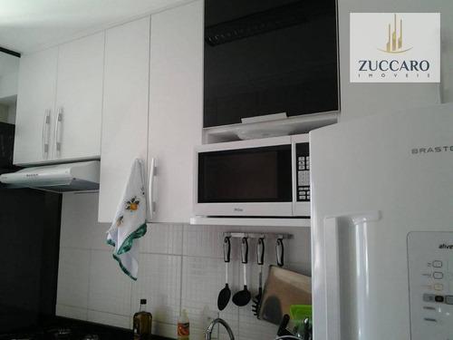 Apartamento Mobiliado Com 2 Dormitórios À Venda, 46 M² Por R$ 250.000 - Ponte Grande - Guarulhos/sp - Ap13183