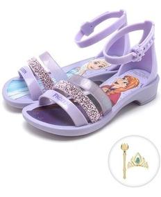 Sandália Infantil Frozen Princesas Fantasy - 21834 C/brinde
