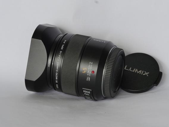 Lente Panasonic Leica Macro Elmarit 45mm F2.8 M4/3