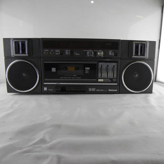 Rádio Gravador Antigo Boombox National Rx-c37