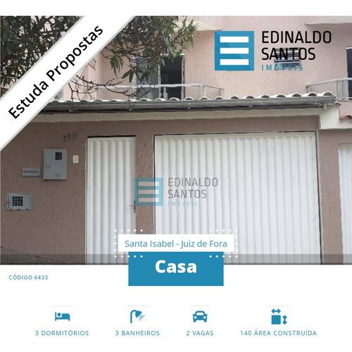 Imagem 1 de 15 de Edinaldo Santos - Ótima Casa Com 3/4 No Santa Isabel, Nova Era Ref. 6433 - 6433