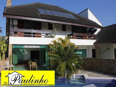 Casa Na Praia De Peruíbe, Litoral Paulista, Com 4 Dormitórios Sendo 4 Suítes. Condomínio Fechado - Ca01166 - 2048394
