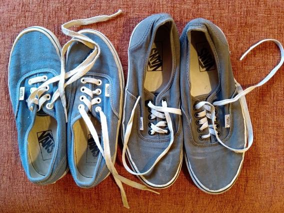Lote 2 Pares Zapatillas Vans Usa Hombre 8.5+5 O Mujer 10+6.5