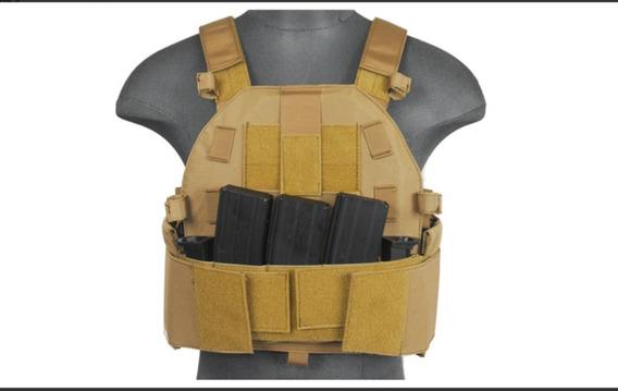 Chaleco Porta Placa Con Bolsillo Triple Para Cargadores M4