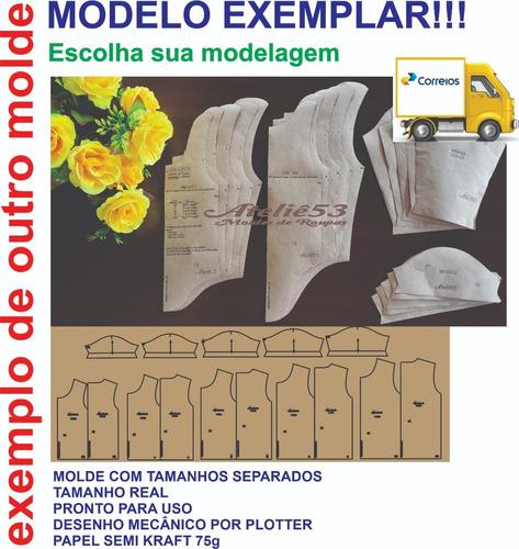 Moldes Modelagem Body Envelope Bebê/ Infantil Rn Ao Gg