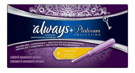 Absorvente Always Platinum Absorvente Interno Regular - 8 Un