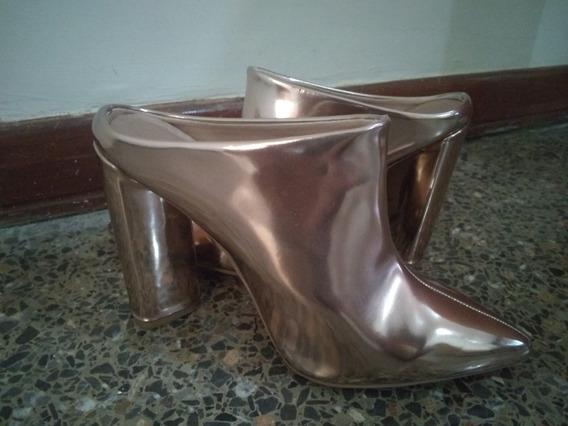 Zapatos Tacones Dorados Cupid