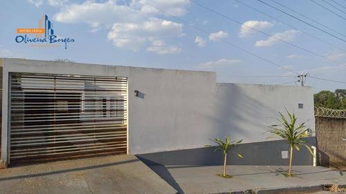 Casa À Venda Por R$240.000 Com Quintal E 2 Quartos No Residencial Arco Íris - Anápolis Go - Ca1666