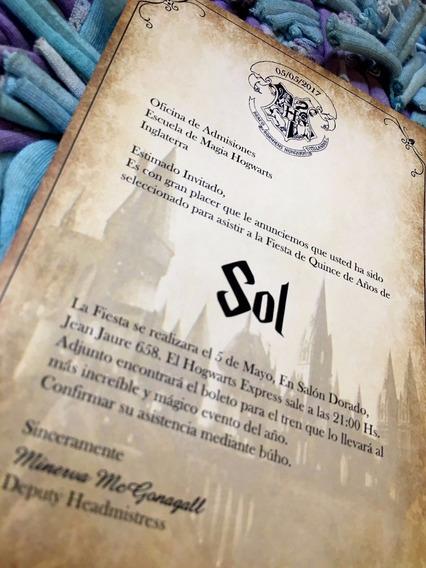 65 Invitaciónes Cumpleaños 15 Años Hogwarts Harry Potter