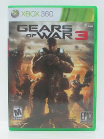 Gears Of War 3 Game Xbox 360 Original Americano Mídia Física