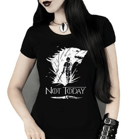Babylook Feminina Arya Stark Not Today Game Of Thrones Mod 2