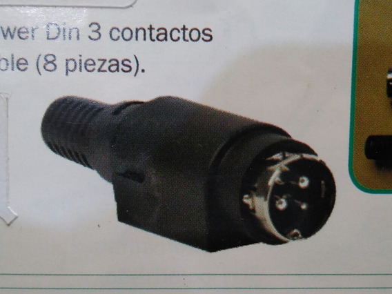 Ficha Power Din Macho A Cable 3 Contactos