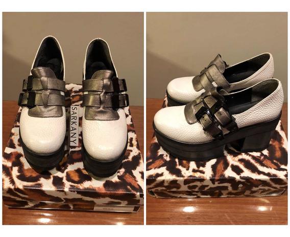 Zapatos Blancos De Cuero. Marca Sarkany. Originales
