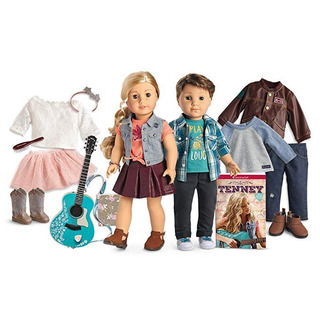 Girls American Girl Tenney & Logan 2 Dolls Large Collection