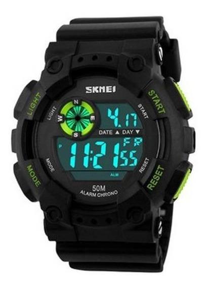 Relógio Masculino Skmei Digital 1101 Preto E Verde D50