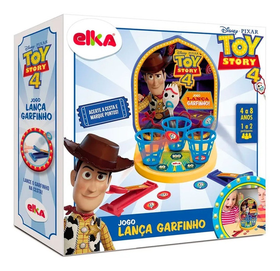 Jogo Lança Garfinho Toy Story 4 Brinquedo Elka Brinquedos