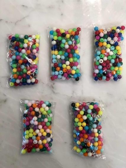 1000 Cuentas De Plástico 6mm De Colores! Oferta