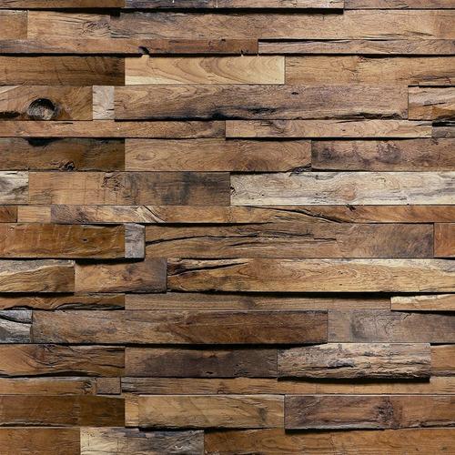 Imagem 1 de 2 de Adesivo De Parede Madeira Rústica 3d Fullhd Anti Reflexo