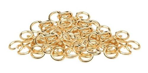 Imagen 1 de 2 de Argolla Dorado 5 Mm Chapa De Oro 14k 15 Piezas Bisutería