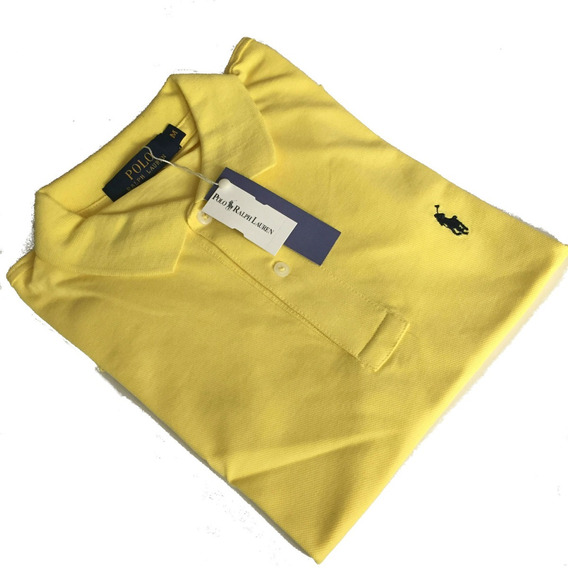 Camiseta Polo Ralph Hombre Manga Corta Amarilla