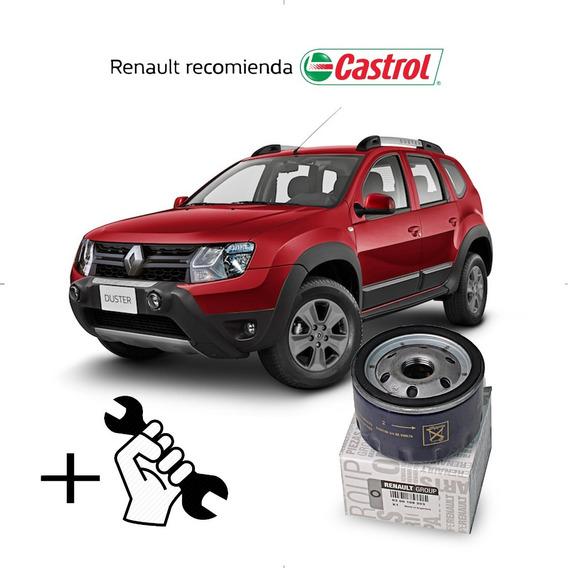 Service Cambio Aceite Y Filtros Duster Motor K4m - 1.6 Cc 16