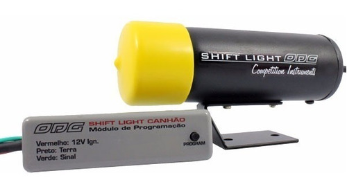 Canhão Shift Light Odg Preto C/ Led Laranja Fast Light