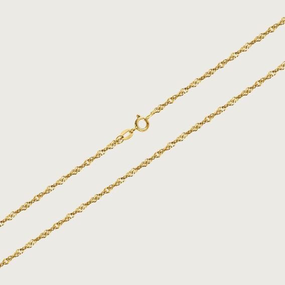 Cordão Em Ouro 18k Com 45cm - 1,7gr