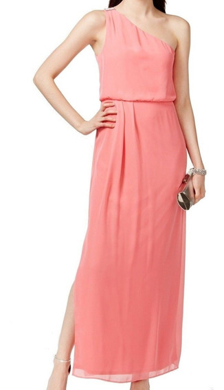 Adrianna-papell-new-coral-pink-womens-size-4-chiffon-b
