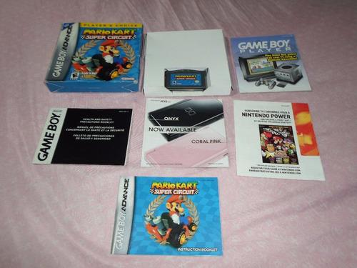 Mario Kart Original Completo Para Game Boy Advance Gba