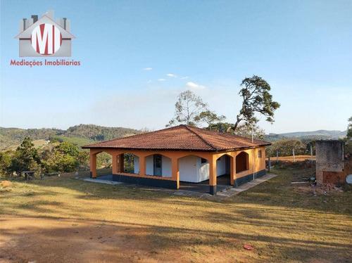 Imagem 1 de 30 de Excelente Chácara Com 03 Dormitórios, Pomar, Arborizada Em Ótimo Bairro À Venda, 7100 M² Por R$ 265.000 - Zona Rural - Pinhalzinho/sp - Ch0698