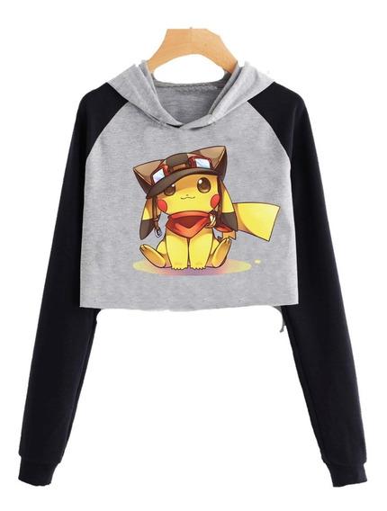 Buzo Pokemon Corto Pikachu Hoodie