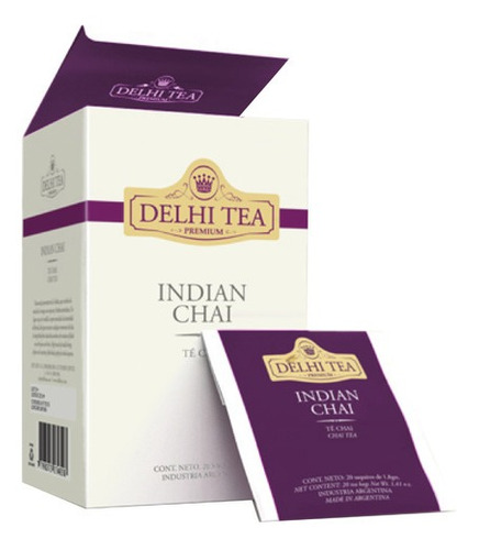Te Premium Delhi Tea X 20 Saq. Indian Chai