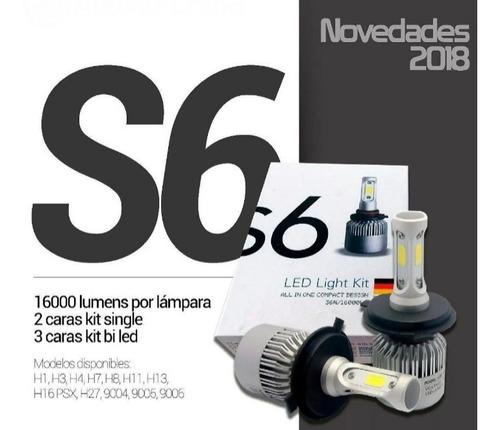 Led H4 Alta Y Baja Para Faro 16000lm Marca S6® Alemana Nuevo