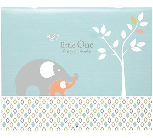 Imagen 1 de 5 de Calendario C. R. Gibson Elefante Del Bebé Azul Pegatinas Mil
