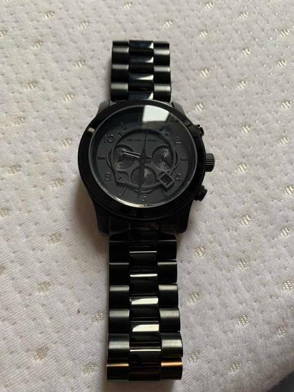 Relógio Michael Kors Preto Original 8157 Masculino Seminovo