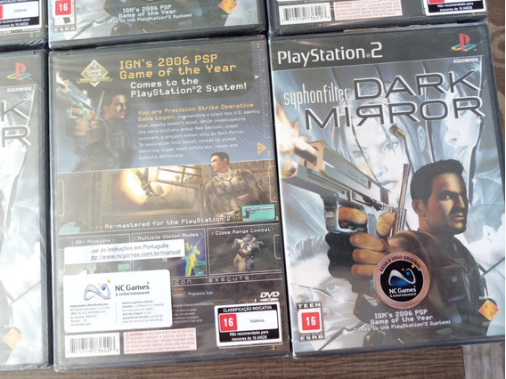 Jogo Original Novo Syphonfilter Dark Mirror Playstation 2