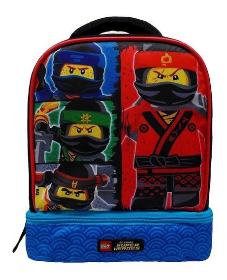 Lonchera Lego De Niño Ninjago Escuadrón Doble Compartimento