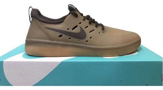 Tênis Nike Sb Nyjah Free Marrom Original