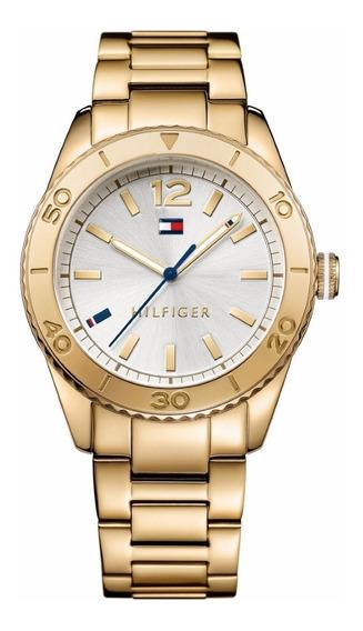 Reloj Tommy Hilfiger Dorado Para Dame Original