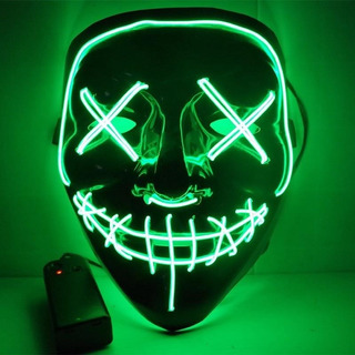 Máscara Led Neon The Purge Darth Vader E Pânico Para Festas