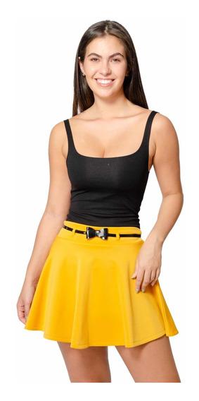 Mini Falda Sexy Casual Moda Mujer Dama Con Cinturon