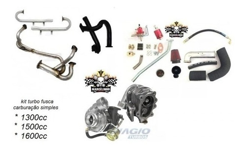 Kit Turbo Fusca Carburação Simples C/ Bomba Eletrica