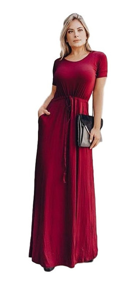 Vestido Longo Manguinha Moda Evangelica Ajustavel Plus Size
