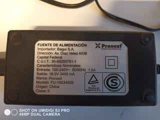 Fuente Pronext Universal Para Notebook 18,5v 3400ma