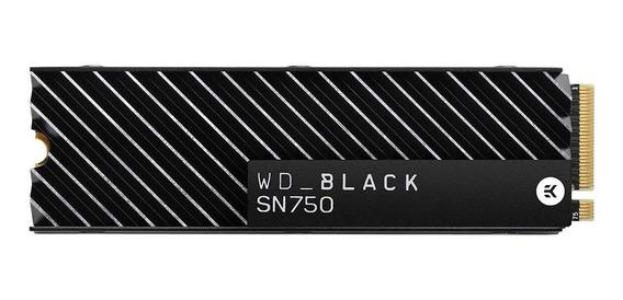 Disco sólido interno Western Digital WD Black SN750 WDS100T3XHC 1TB preto