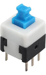 Pulsador Con Retención 6 Pines 7x7mm Self-lock - Arduino