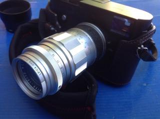 Leica Elmarit 90mm Parasol Filtro Leica Tapas Impecable M